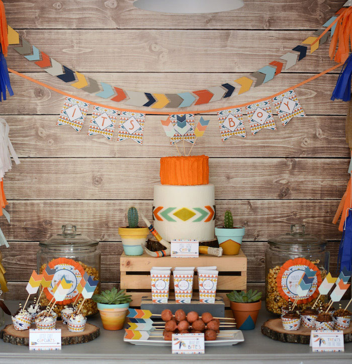 Tribal-Little-Brave-Man-themed-baby-shower-via-Karas-Party-Ideas-KarasPartyIdeas.com26